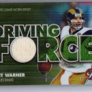 Kurt Warner 2002 Topps Finest Driving Force Authentic Jersey #DF-KW Rams Cardinals HOF