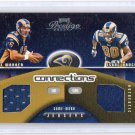 Kurt Warner HOF #/500 Dual Jersey 2002 Playoff Prestige Connections  #C-1 Rams Isaac Bruce