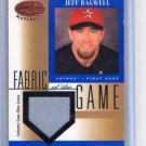 Jeff Bagwell HOF 2001 Leaf Certified Fabric of the Game Authentic Jersey #FG-56 Houston Astros