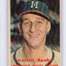 Warren Spahn 1957 Topps #90  HOF Milwaukee Braves