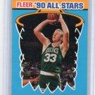 Larry Bird 1990-91 Fleer Sticker Card # 2 of 11 Vintage Celtics HOF