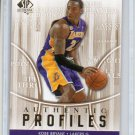 Kobe Bryant Insert 2008-09 SP Authentic Profiles #AP-40 Lakers