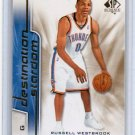 Russell Westbrook RC 2008-09 SP Authentic Destination Stardom #DS-4 Thunder OKC Rookie Insert