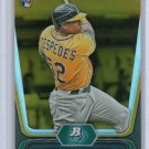 Yoenis Cespedes Gold RC 2012 Bowman Platinum Rookie #21 A's Mets Gold Parallel