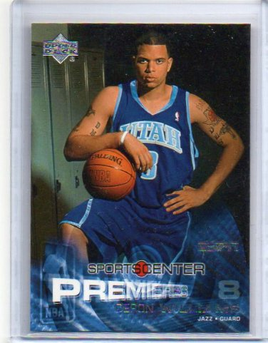 Deron Williams RC  2004-05 UD ESPN Sports center Premieres #104 Cavs, Jazz Rookie