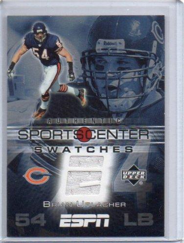 Brian Urlacher 2005 UD ESPN Sports Center Swatches #SCS-BU Bears