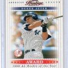Derek Jeter 2003 Playoff Prestige Award Winners #AW-15 Yankees #/1996