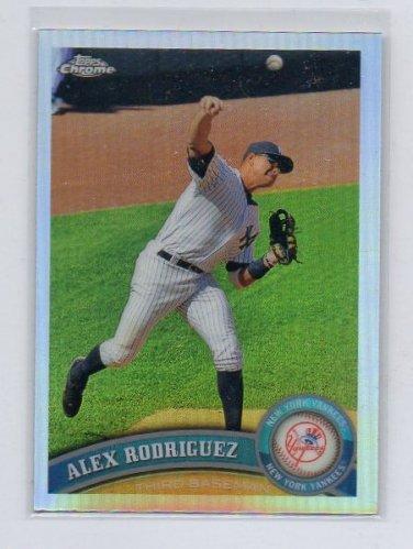 Alex Rodriguez 2011 Topps Chrome Refractor #100 Yankees