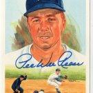 Pee Wee Reese Signed Autographed 1989 Perez-Steele Celebration Postcard #34 Brooklyn Dodgers HOF