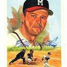 Eddie Mathews Signed Autographed 1989 Perez-Steele Celebration Postcard #30 Braves HOF