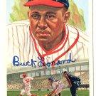 Buck Leonard Signed Autographed 1989 Perez-Steele Celebration Postcard #26 Homestead Grays HOF