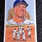 Duke Snider Signed Autographed 1989 Perez-Steele Celebration Postcard #38 Brooklyn Dodgers HOF