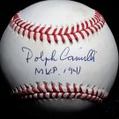 """Brooklyn Dodgers Dolph Camilli Signed Autographed Official NL Baseball (White) Inscribed """"1941 MVP"""""""