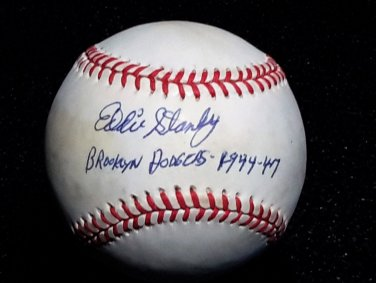 Brooklyn Dodgers Eddie Stanky Signed Autographed Official NL Baseball (Coleman) w/ Inscription