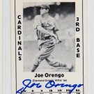 Joe Orengo Signed 1979 Wallin Diamond Greats #164 Authentic Autograph NY Giants, Brooklyn
