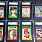 1975 Topps Mini Complete Set (660) 9 Graded - HOF Rc's Brett, Yount