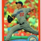 Clayton Kershaw 2011 Topps Chrome Orange Refractor #107 Dodgers