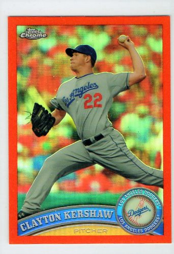 Clayton Kershaw 2011 Topps Chrome Orange Refractor #107 Dodgers
