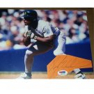 Rickey Henderson HOF Signed Autographed Cut / 8x10 Color Photo w/Cut Sig  A's PSA/DNA