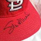 Stan Musial Signed Autographed Cardinals Vintage Wool Fitted Cap Hat HOF
