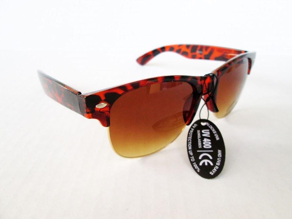 Designer Inspired Brand New Tortoise Aviator Women's Sunglasses with Brown Lens