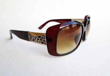 Brand New WomenHigh Fashion Square Shape or Semi Oval Women's Brown Sunglasses