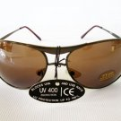 Good Men's Aviator Sunglasses and Shades with Brown Lens and Gun Metal Frame