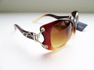 Good Cat Eye Women High Fashion Sunglasses With Brown Lens and Brown Frames