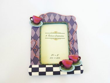 """Handpainted Picture Frame With A Size of 3 1/2"""" x 5"""""""