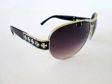 Brand New Designer Style Black Aviator Sunglasses For Unisex, Men and Women