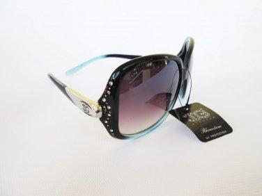 Womens DG Eyewear Sunglasses With Black Lens or Brown Lens and Rhinestones