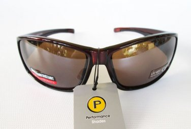 Mens Outdoor Sunglasses Shades Shatter Resistant Lens with Black and Brown Color