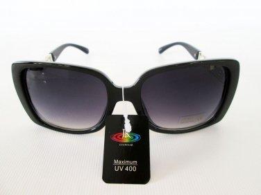 Designer's High Fashion Black Sunglasses With Black Lens & Plastic Metal Frames