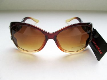 Retro Lady Fashion Women's Cat Eye Sunglasses with Brown Lens and Brown Frames