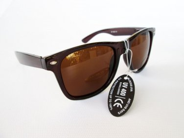 Brown Wayfarer Unisex Sunglasses and Shades for Men and Women