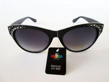 Cat Eye High Fashion Women's Sunglasses and Shades With Rhinestones