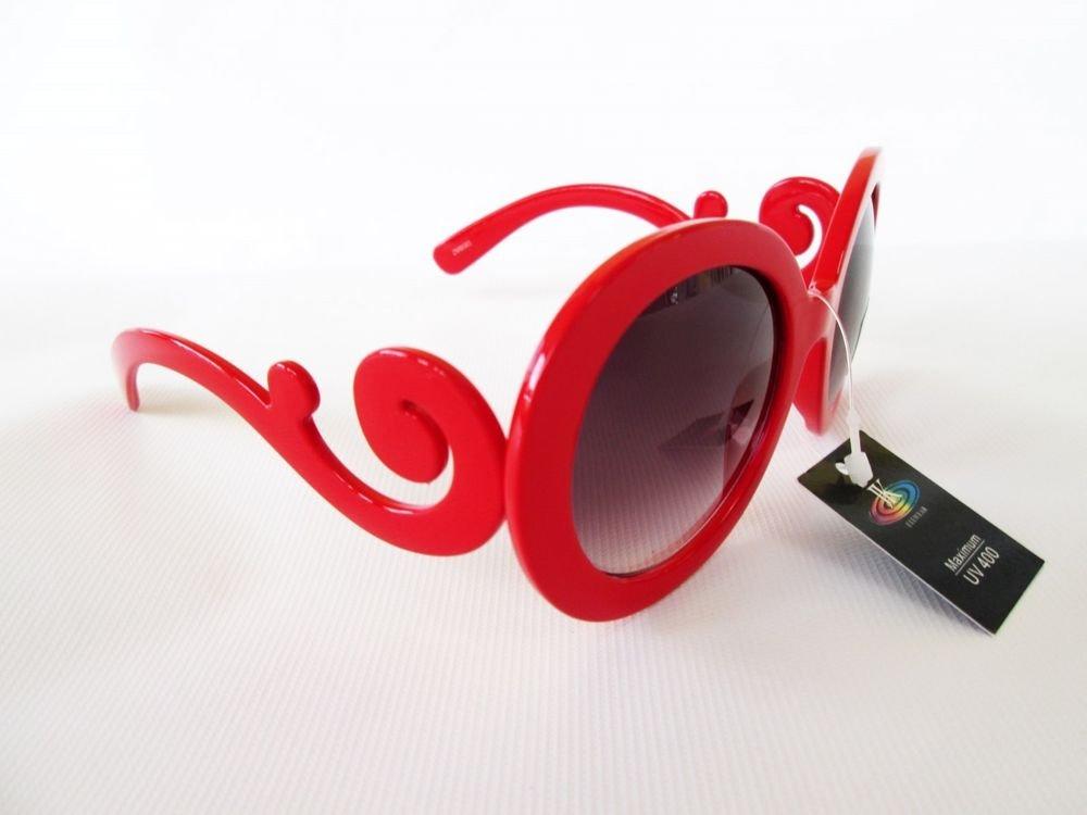 Designer Style Women Sunglasses & Shades With Light Smoke Lens & Red Frames