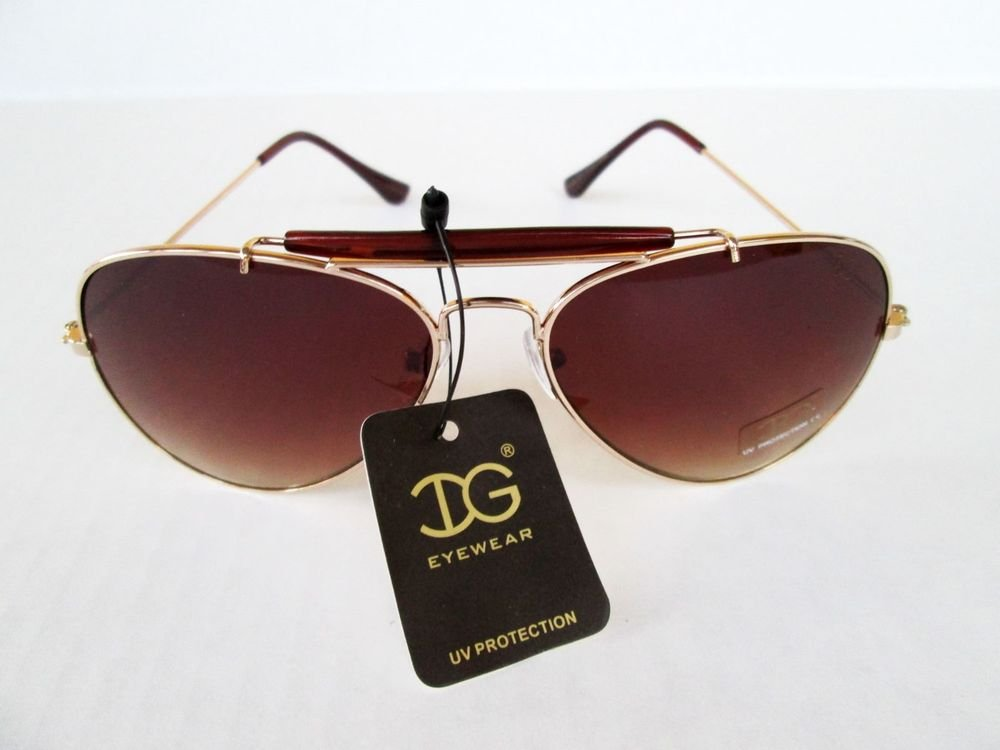 Cheap But Good and Sturdy Brown Sunglasses For Men with Goold Metal Frames