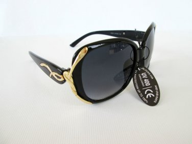 High Fashion Brand New Designer Style Women's Sunglasses With Black Lens.