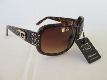 New Style Tortoise Brown With Rhinestones Women's Sunglasses & Shades #IG097D
