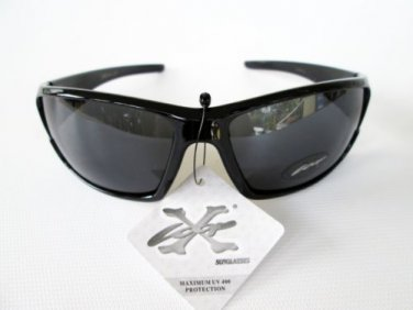 Men's Brand Name New Sporty Light Weight Black Shades & Sunglasses by XLOOP