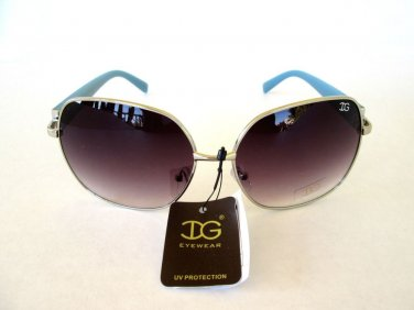 Popular Style Round or Oval Women's Sunglasses With Smoke Black Lens # IG9485M