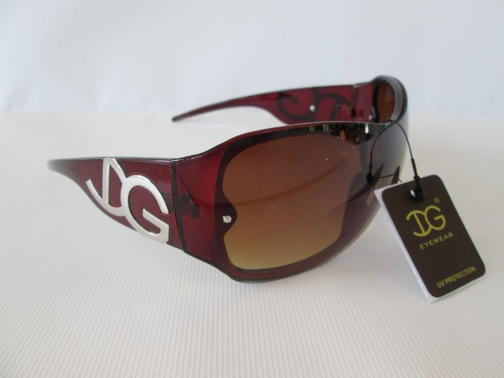 Light Weight Popular Style New Shield Women's Sunglasses with Black, Brown Lens