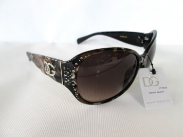 Nice Looking Round Oval Women Sunglasses Shades, Smoke Black Lens & Rhinestones