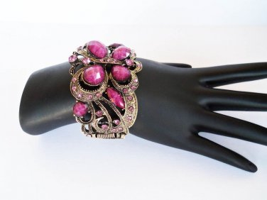 Brand New Arrival High Fashion Purple Bracelet Bangle With Rhinestones For Women