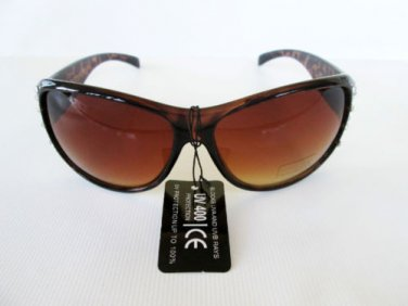 Brand New Brown Sunglasses With Tortoise Frames and Rhinestones for Women,