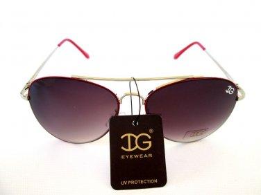 Popular Women Aviator Sunglasses With Light Black, Light Red or Smoke Lens - NEW