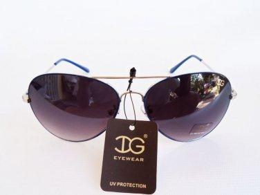 Multi-color Women's Aviator Oval Sunglasses with Metal Plastic Color Frames