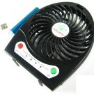 Black Hadata Battery Portable Rechargeable Turbo Fan+Micro USB Charging Cable 03963-MnUSBFANnnnnB