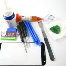 Front Glass Screen+Repair Tools Glue Set for Motorola Moto X XT1053~Black 03706-MSTSMOTOXnB-TG